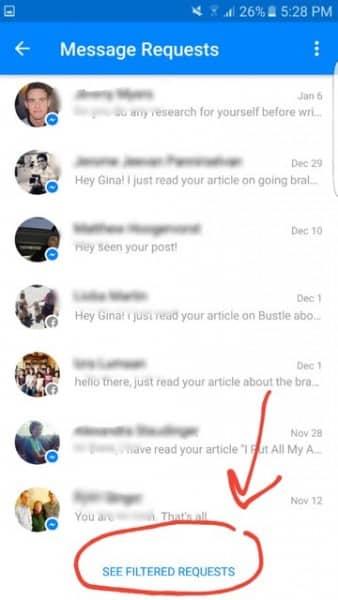 Facebook slēptā pastkastīte