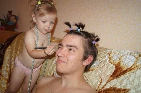 Meitas padara tēvus smukākus