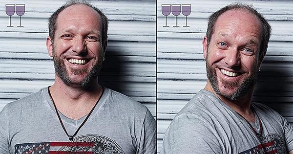 Fotogrāfs iemūžina cilvēkus pēc trīs vīna glāzēm