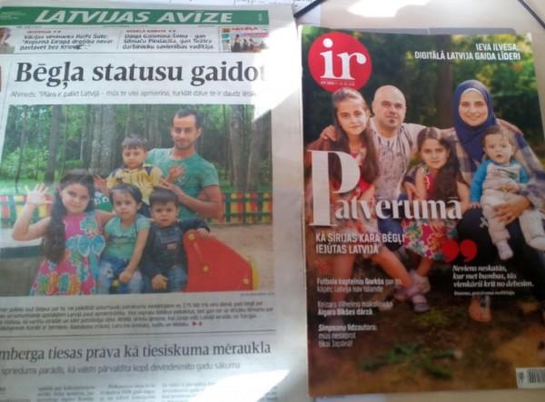 Latvijas mediji manipulē ar bēgļu ģimenēm